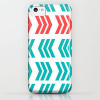 Coral Pop and Aqua Zig Zag iPhone & iPod Case by Lisa Argyropoulos | Society6