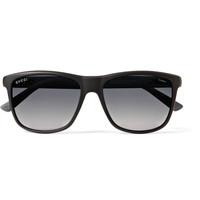 Gucci - Matte-Acetate D-Frame Polarised Sunglasses | MR PORTER
