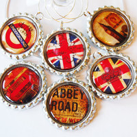 London Wine Glass Charms by KellysMagnets