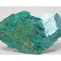 Green and Pale Blue Chrysocolla Crystalline Mineral Specimen