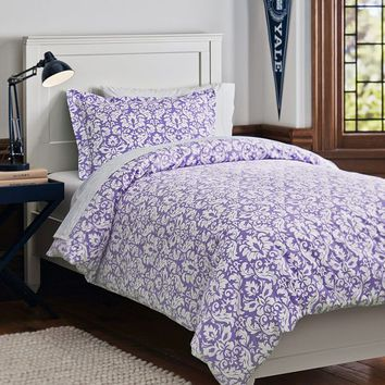 Damask Essential Duvet Value Bedding Set, Lavender