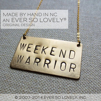 weekend warrior - handmade gold necklace - wedding engagement gift