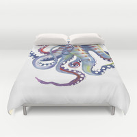Octopus Duvet Cover by S Nagel | Society6