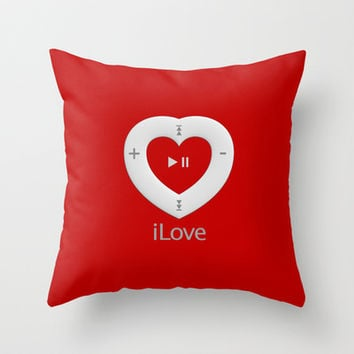 iLove red - Throw Pillow by THE-LEMON-WATCH | Society6