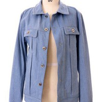 Chicwish Boyfriend Denim Jacket - Retro, Indie and Unique Fashion