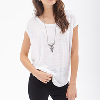 Boxy Heathered Linen Top
