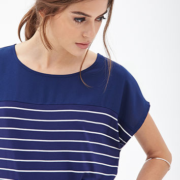 Boxy Striped Knit Top