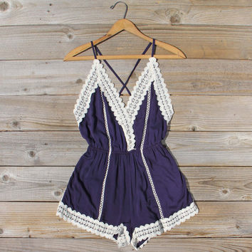 Whiskey   Rye Romper in Navy