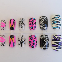 Hair Stylist Nail Art by MaryMars on Etsy