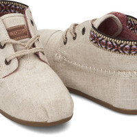 BURLAP TRIM WOMEN'S TRIBAL BOOTS