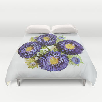 Matsumoto Asters Duvet Cover by DuckyB (Brandi)