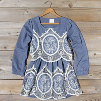Chambray & Lace Dress
