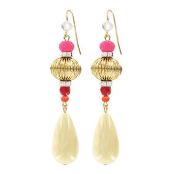 """Warrior"" Drop Earrings - Pink 