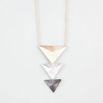 Full Tilt Triangle Stud Pendant Necklace Metal One Size For Women 24194419101