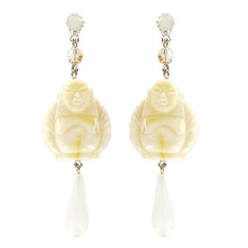 """Bhava"" Earrings - Ivory 