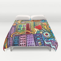 Pretty City Duvet Cover by gretzky