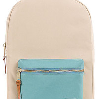 The Settlement Backpack in Khaki and Teal