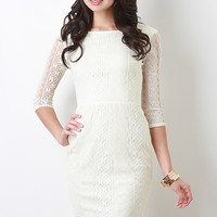 Mesh and Crochet Lace Dress