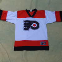 Philadelphia Flyers Logo Athletic Jersey Size Large (Youth) #10 LeClair NHL