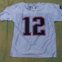 New England Patriots Tom Brady Jersey  NFL Players inc #12 size Large