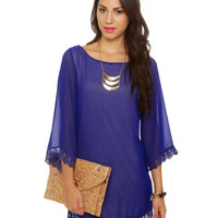 Lovely Royal Blue Dress - Shift Dress - &amp;#36;41.00