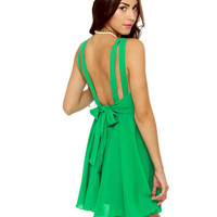 Cute Green Dress - Sleeveless Dress - $45.00