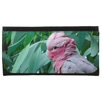 Galah Cockatoo Roseate Large Faux Leather Wallet