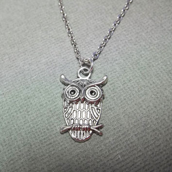 Owl Necklace Friendship Gift Bird Necklace Girls Necklace Birthday Gift