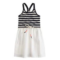 GIRLS' RACERBACK TANK DRESS IN STRIPE