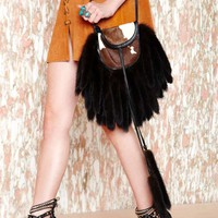Vintage Fur The Lines Bag