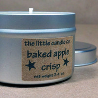 Soy Candle Tin Baked Apple Crisp Scented by littlecandles on Etsy