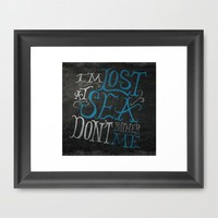 Lost at Sea Framed Art Print by Chris Piascik | Society6