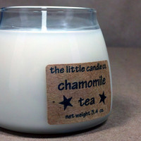 Soy Jar Candle Chamomile Tea Scented Dye Free by littlecandles