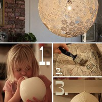 More Design Please - MoreDesignPlease - DIY Doily?Lamp