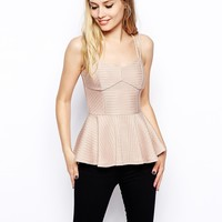 ASOS Bandange Peplum with strappy top
