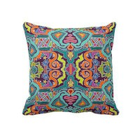ikat doodle pillow from Zazzle.com