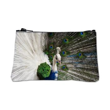 Blue White Peacock Coin Purse