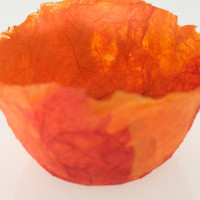 Paper Bowl  red and orange bright decorative bowl by nicolabaker1