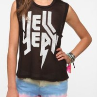 UrbanOutfitters.com > Truly Madly Deeply Rock On Mesh Muscle Tee