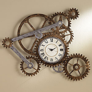 Gear Wall Art with Clock | Decorative Accessories| Home Decor | World Market