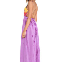 Tie Dye Maxi Dress in Purple