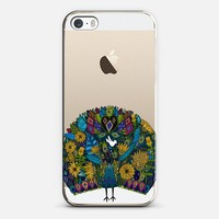peacock garden transparent iPhone 5s case by Sharon Turner | Casetify