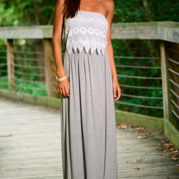 Here For Fun Maxi, Grey