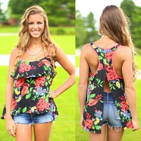 Floral Frenzy Top