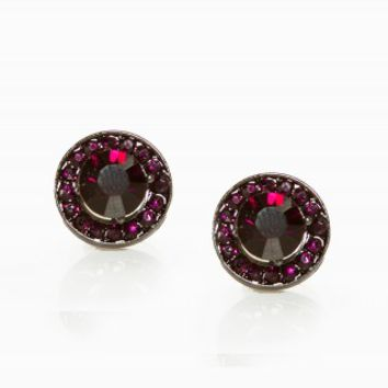 ROUND RHINESTONE EARRINGS