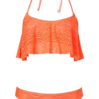 Scallop Crochet Bikini Set - Swimwear - Clothing