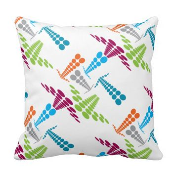 Pillow - Fun and Colorful Dotted Arrows
