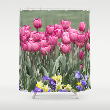 Tulips Shower Curtain by VanessaGF