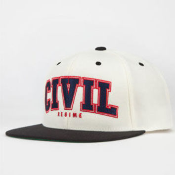 Civil Blocked Mens Snapback Hat Red One Size For Men 24087230001