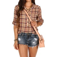 Taupe Plaid Marilyn